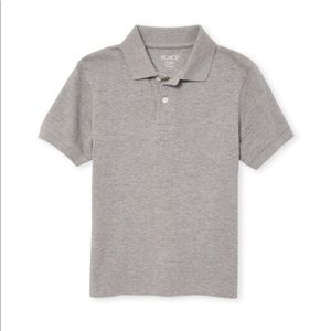 NWT Boys Uniform Smoke Gray Pique Polo M (7/8)